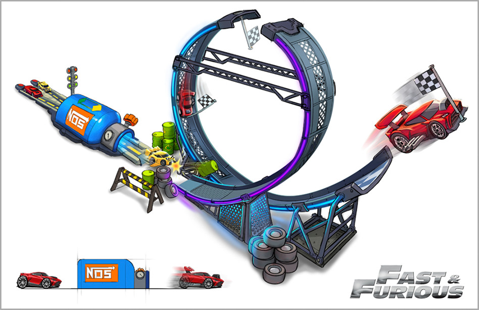 HASBRO FAST AND FURIOUS TRACK SET