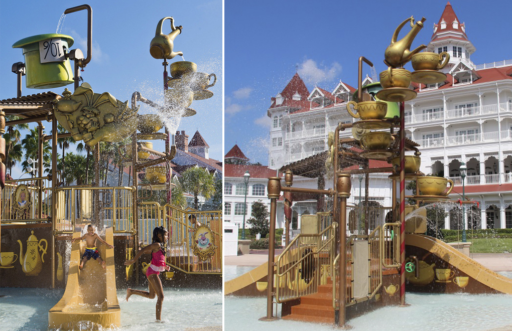 01 DISNEYS GRAND FLORIDIAN ALICE IN WONDERLAND WATER PLAY STRUCTURE